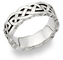 Carys Celtic Knot Wedding Band 14K White Gold