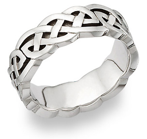 Buy Carys Celtic Knot Platinum Wedding Band