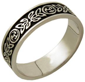 Buy Antiqued Celtic Wedding Band Ring, 14K White Gold