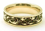 Antique Celtic Wedding Band Ring - 14K Gold