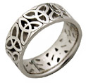 Triangle Knot Celtic Ring - 14K White Gold