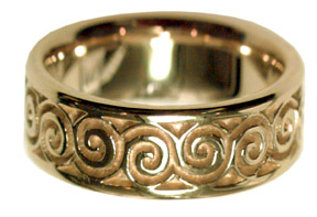 Celtic Spiral Ring - 14K Gold