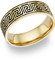 Antiqued Celtic Maze Wedding Band Ring - 14K Gold