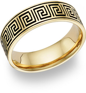 Buy Antiqued Celtic Maze Wedding Band Ring – 14K Gold