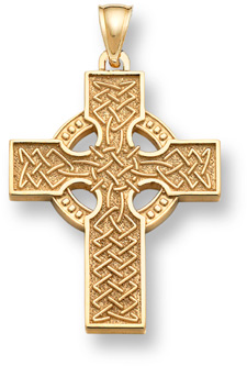 Celtic Cross Pendant - 14K Gold