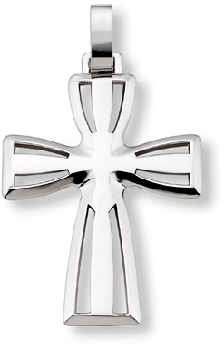 Men's 14K White Gold Cross Pendant