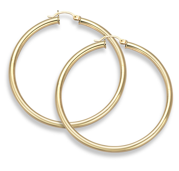 14K Gold Hoop Earrings - 2