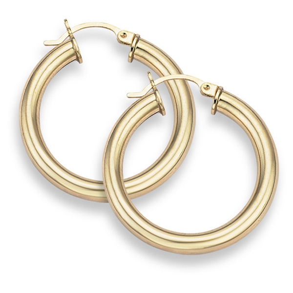 14K Gold Hoop Earrings - 1