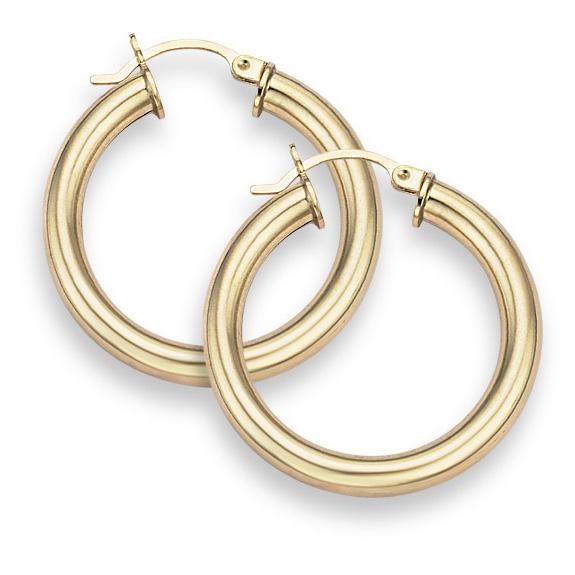 14K Gold Hoop Earrings - 7/8