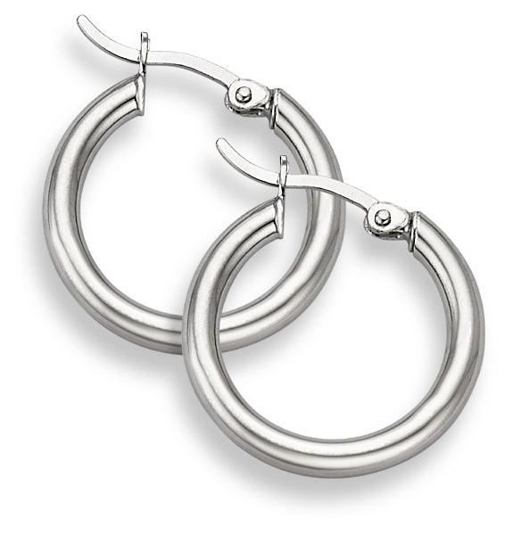 Sterling Silver Hoop Earrings - 15/16