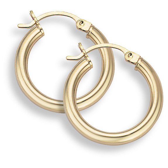 14K Gold Hoop Earrings - 7/8
