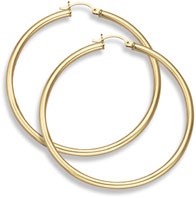 14K Gold Hoop Earrings - 2 3/8