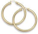 14K Gold Hoop Earrings - 1 1/4