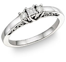 1/4 Carat Art Deco Diamond Engagement Ring