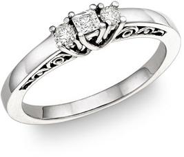 1/4 Carat Art Deco Diamond Engagement Ring