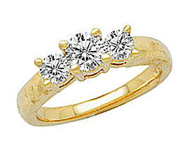 Buy 1 Carat Three Stone Diamond Ring