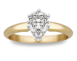 1 Carat Pear-Cut Diamond Solitaire Engagement Ring