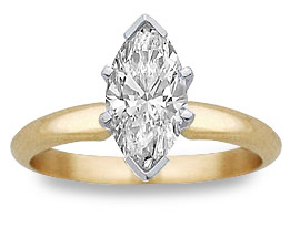 1/2 Carat Marquise Diamond Engagement Ring (Rings, Apples of Gold)