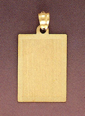 14K Gold Engraveable Plaque Pendant (Pendants, Apples of Gold)