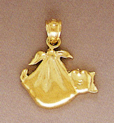 Buy 14K Solid Gold Swaddled Baby Pendant, Small