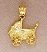 Buy Baby Stroller Pendant, 14K Gold