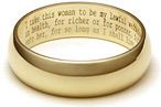 Wedding Vow Ring - 14K Gold