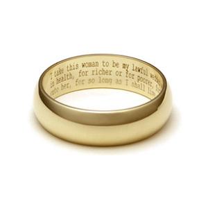 Wedding Vow Ring