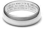 Wedding Vow Wedding Band Ring in 14K White Gold