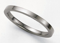 Flat Platinum Wedding Band Ring - 2mm