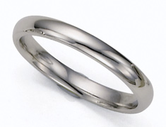 3mm Platinum Plain Wedding Band Ring