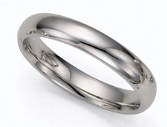 4mm Platinum Plain Wedding Band Ring