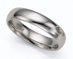 5mm Platinum Plain Wedding Band Ring