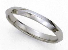 Knife Edge Platinum Wedding Band - 3mm