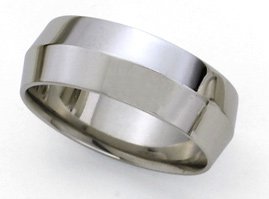 Knife Edge Platinum Wedding Band - 8mm