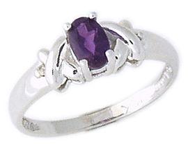 Buy Diamond and Amethyst Ring