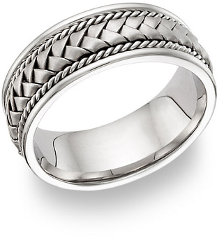 Platinum Braided Wedding Band Ring (Wedding Rings, Apples of Gold)