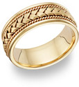 18K Gold Braided Wedding Band