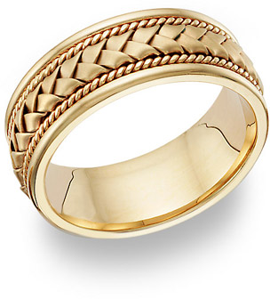 Buy 18K Gold Braided Wedding Band