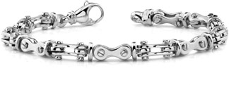 Bicycle Link Bracelet, 14K White Gold