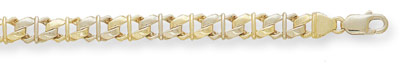 14K Gold Hand-Made Designer Link Bracelet (Bracelets, Apples of Gold)