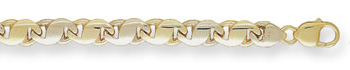 14K Gold Hand-Made Designer Mariner Link Bracelet