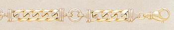 14K Gold Designer Curb Connect Bracelet