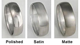 Image result for polished vs satin vs matte