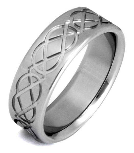 Titanium Celtic Knot Wedding Band Ring