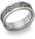 Titanium Celtic Wedding Band Ring - FINAL SALE - Size 9 1/2