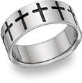 Titanium Cross Band Ring