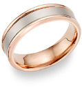 14K Rose Gold Brushed Wedding Band Ring