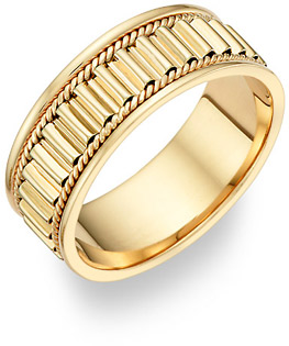 14K Gold Design Wedding Band