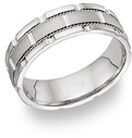 18K White Gold Design Wedding Band