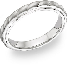 14K White Gold Women's Design Wedding Band
